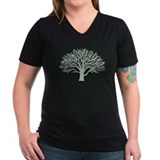 Forests Womens V-Neck T-shirts (Dark)