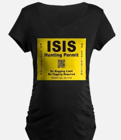 Isis Hunting Permit Maternity T-Shirt
