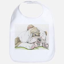 Sleepy English Bulldog Bib