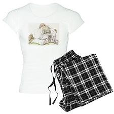 Sleepy English Bulldog pajamas