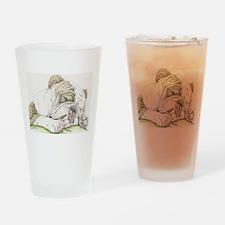 Sleepy English Bulldog Drinking Glass