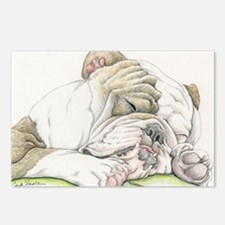 Sleepy English Bulldog Postcards (Package of 8)