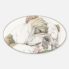 Sleepy English Bulldog Decal