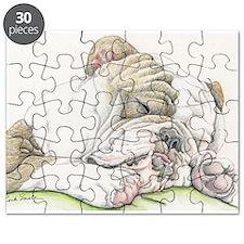 Sleepy English Bulldog Puzzle
