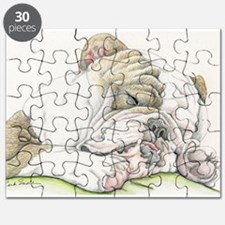 Sleepy English Bulldog Puzzle