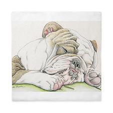 Sleepy English Bulldog Queen Duvet
