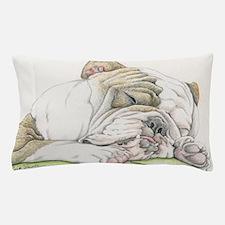 Sleepy English Bulldog Pillow Case