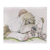Bulldog Fleece Blankets