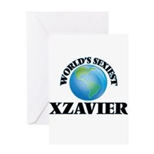 World's Sexiest Xzavier Greeting Cards