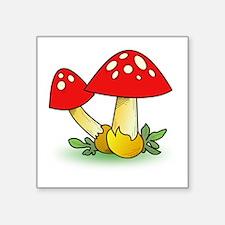 "Mushroom Square Sticker 3"" X 3"""