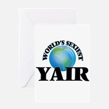 World's Sexiest Yair Greeting Cards