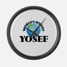 World's Sexiest Yosef Large Wall Clock