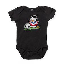 Soccer Penguin Baby Bodysuit