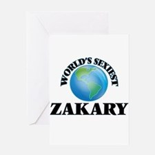 World's Sexiest Zakary Greeting Cards