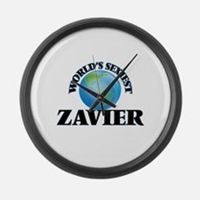 World's Sexiest Zavier Large Wall Clock