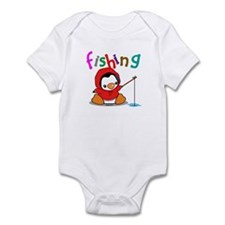 Fishing Penguin Infant Bodysuit