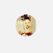 geisha girl Mini Button (10 pack)