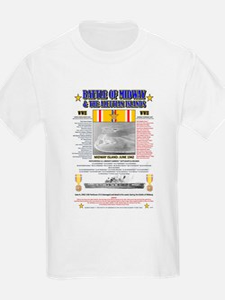 BATTLE OF MIDWAY CAMPAIGN WORLD WAR II & A T-Shirt