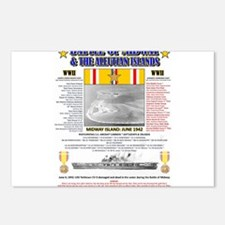 BATTLE OF MIDWAY CAMPAIGN Postcards (Package of 8)