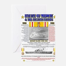 BATTLE OF MIDWAY CAMPAIGN WORLD WAR Greeting Cards