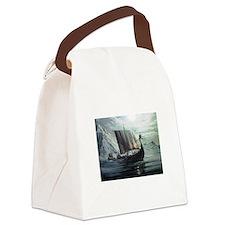 viking ship Canvas Lunch Bag
