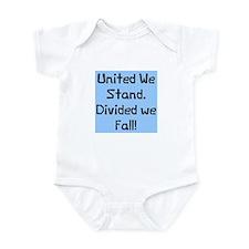United we stand divided Infant Bodysuit