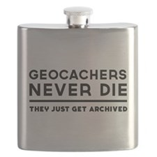 Geocachers never die they just get archived Flask