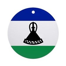 Flag of Lesotho Ornament (Round)