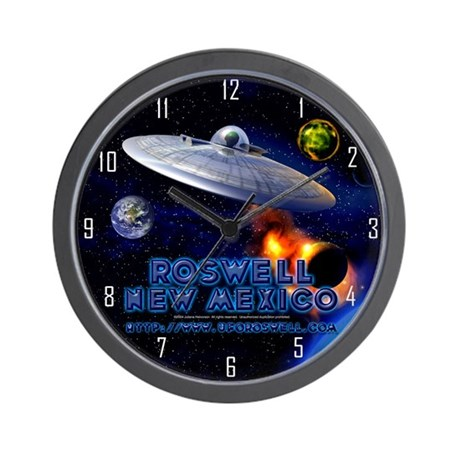 Roswell, New Mexico UFO Wall Clock