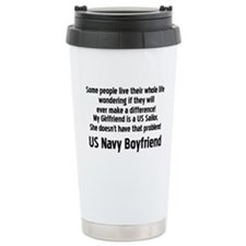 Cute Navy boyfriend Travel Mug