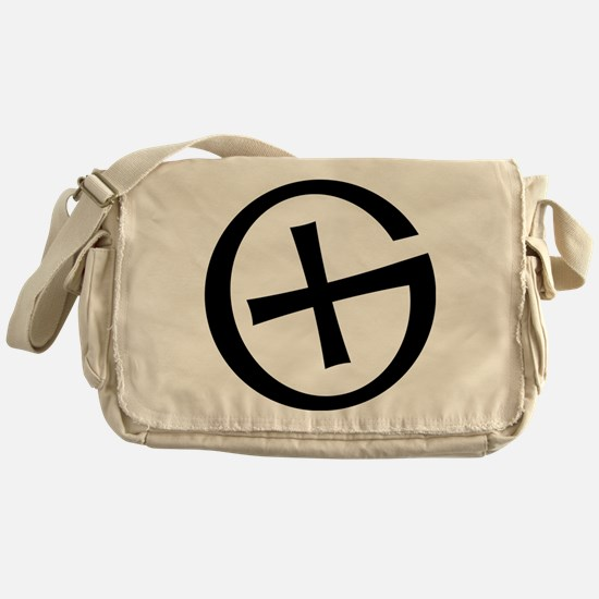 Geocaching symbol Messenger Bag