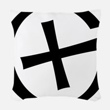 Geocaching symbol Woven Throw Pillow
