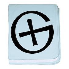 Geocaching symbol baby blanket