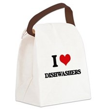 I love Dishwashers Canvas Lunch Bag