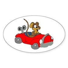 Christmas Mouse Oval Decal