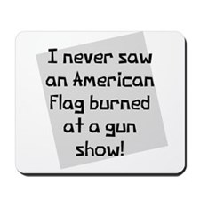 American Flag Gun Show Mousepad