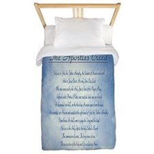 Apostles Creed Cyanotype Twin Duvet