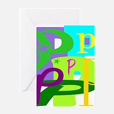 Initial Design (P) Greeting Cards