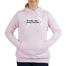 rocketscientistblack.png Women's Hooded Sweatshirt