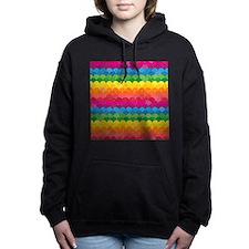 Waves of Rainbows Women's Hooded Sweatshirt