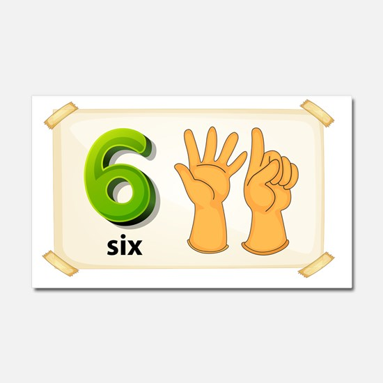 Number six Car Magnet 20 x 12