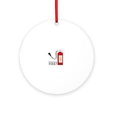 Fire Alarm Ornament (Round)