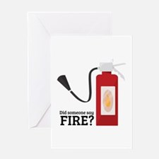Fire Alarm Greeting Cards