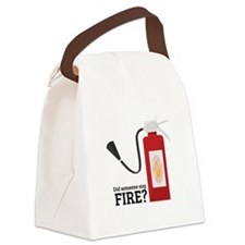 Fire Alarm Canvas Lunch Bag