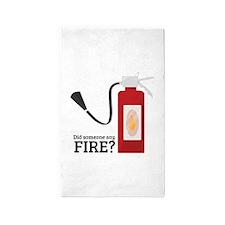 Fire Alarm 3'x5' Area Rug