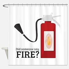 Fire Alarm Shower Curtain
