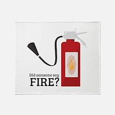 Fire Alarm Throw Blanket