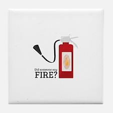 Fire Alarm Tile Coaster