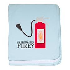 Fire Alarm baby blanket