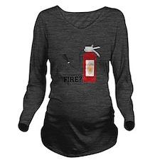 Fire Alarm Long Sleeve Maternity T-Shirt